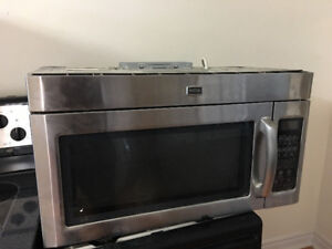 Maytag stainless steel over the range microwave exhaust hood fan