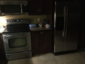 Maytag stainless steal fridge and stove for sale