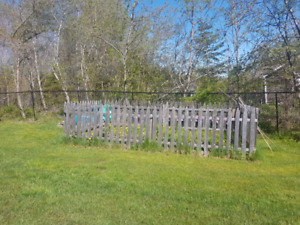 Picket fence and support posts for garden