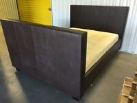 TV Kingsize bed with integrated TV and mattress - good condition // free delivery