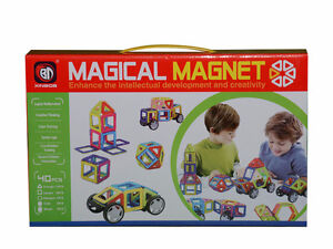 40 pcs Magical Magnet Toys Magnetic Construction Like Magformers