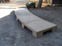 WOODEN STAGE - COMES APART & FITS THE BACK OF A SHORT BOX  TRUCK