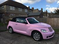beautiful pink car, auto, cabriolet, 2 doors
