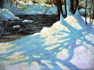 """Early Spring Landscape by T. Callaghan """"Spring Patterns"""", 1960's Stratford Kitchener Area image 9"""