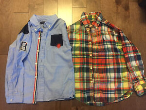Boys Tommy Hilfiger & Ralph Lauren dress shirts 4t