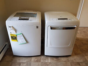 LG HIGH EFFICIENCY WASHER/DRYER PAIR & EXTENDED WARRANTY