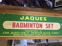 Jaques vintage badminton set including stand with net - great Father's Day present !