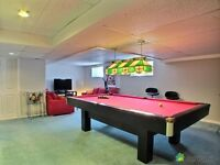 POOL / CONFERENCE TABLE - CANADA BILLARD - BLACK OAK