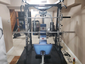 Marcy Home Gym + Weight Plates + Extra Equipment