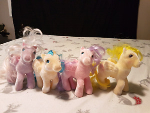 Set of 4 early furry My Little Pony