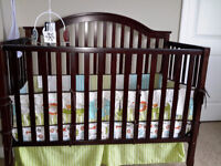3 in 1 convertible crib ( almost new with original box)
