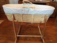 Moses basket with hood- like new