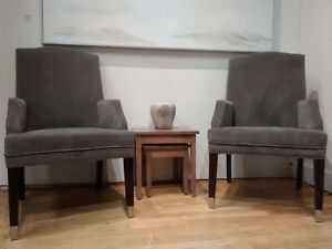 Grey Velvet Accent Chairs - offers welcome!
