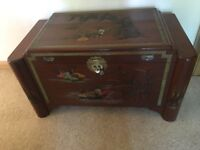 Chinese carved blanket / storage chest