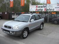 2001 HYUNDAI SANTA FE 2.4 4 WHEEL DRIVE IN GOOD CONDITION