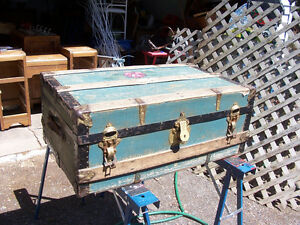 Antique Trunk 32 by 19 and 13 Inches Deep Clean and odor free