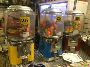 Gumball machines with gum $75 each