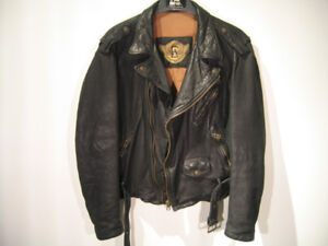 Emporio Armani (Giorgio Armani) leather biker motorcycle jacket