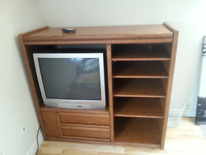 Oak Entertainment Center -like new, $69 OBO