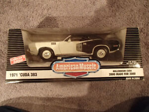 1:18 SCALE DIE-CAST 1971 CUDA 383 CONVERTIBLE - 1 OF 2000