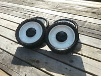 4 push lawn mower wheels