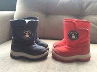 2 x Jojo Maman Bebe Snow Boots (size 6)