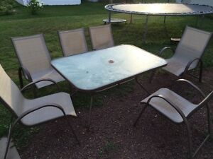 Patio set 6chairs & 1 table