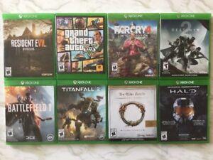 X Box One: Halo - Destiny 2 - GTA V - Resident Evil...