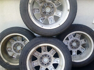 BMW E46 style 45 Mags with summer tires 205/55R16 West Island Greater Montréal image 9