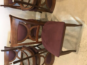 Six Barely used Italian Dining Chairs
