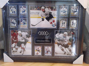 OILERS PROFESSIONALLY FRAMED COLLECTIBLE