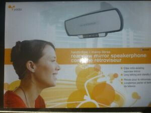 Yada Bluetooth® Rearview Mirror with Handsfree Speakerphone