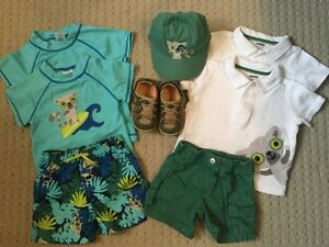 12,18 M Boys Gymboree Summer Bundle with Carters Sandals