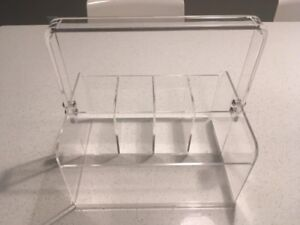 REDUCED!! Perspex cutlery holder- never been used!