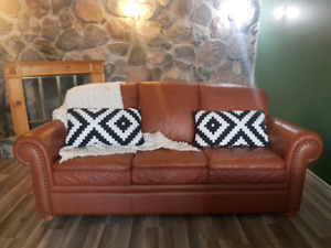 Leather Couch & Matching Chair