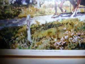 """Peter Etril Snyder """"Cattle By The Covered Bridge"""" Signed/Numbere Stratford Kitchener Area image 6"""