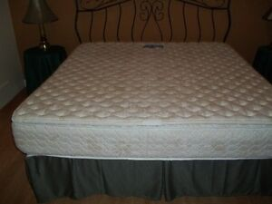 King Size Mattress, Boxspring and Bed Frame