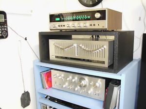 RECEIVER, RARE SPEAKERS AND CD PLAYER
