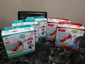 3 packs of brand new Nuk bottles only Minnie mouse left