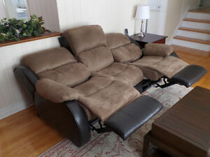 Fauteuil inclinable 3 places - 3-seat reclining sofa