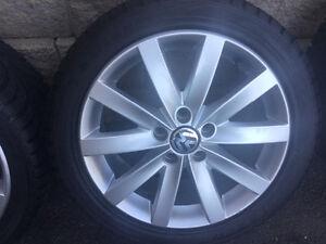 4 pneus hiver 225/45r17 Sailun Ice Blazer WST1/ mags Volkswagen