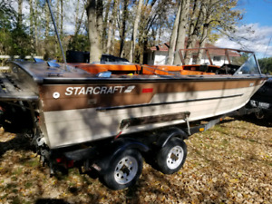 18 foot boat and trailer