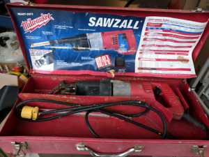 Old school Milwaukee Sawzall with metal case