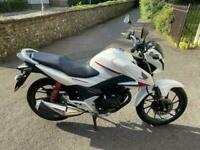 2016 (16) Honda CB125F/ GLR125 Pearl White - 1800 miles