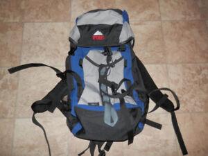 Cabin luggage (2), yoga bag w/mat, computer bag, hiking backpack