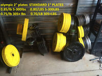 olympic plates and standard plates
