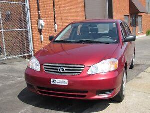 Toyota Corolla  2004 » 4cyl.117,321 KM 1.8L TOUT ÉQUIPÉ bijoux !