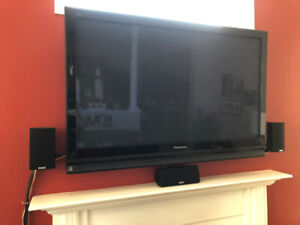 "48"" Panasonic TV and Home Theatre Surround Sound For Sale"
