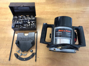 """Black and Decker 1/4"""" Router and bits for sale."""
