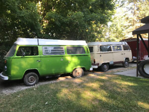 1977 &1978 VW Camper vans sold as a pair